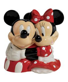 This Hugging Mickey & Minnie Cookie Jar by  is perfect! #zulilyfinds