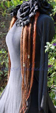 Mixed Copper Dread Lock Falls by DivaDreads on Etsy