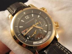 Solid 18K Rose Gold Jaeger LeCoultre Compressor Geographic