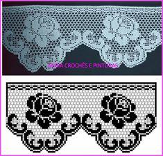 Crochet Lace Edging, Crochet Borders, Crochet Flower Patterns, Crochet Stitches Patterns, Crochet Doilies, Crochet Flowers, Knitting Patterns, Xmas Cross Stitch, Cross Stitch Flowers