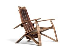 Wine Barrel Chairs - Repurposed  from California Wine Barrels.