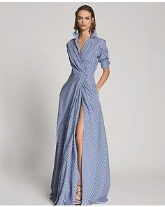 Rivera Cotton Gingham Gown