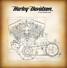 Image result for harley knucklehead art