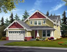 House Plan 87419 | Country   Craftsman    Plan with 2377 Sq. Ft., 3 Bedrooms, 3 Bathrooms, 2 Car Garage