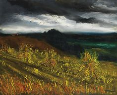 Maurice de Vlaminck (French, 1876-1958), Champ de blés. Oil on canvas, 60.1 x 73.2 cm.