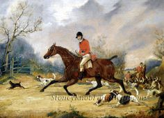 Going To Cover ~ Alken, Horses, Dogs, Foxhunting ~ Cross Stitch Pattern #StoneyKnobFarmHeirlooms #Frame