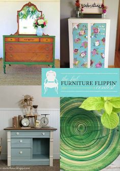 Lovely furniture transformations from participants in the Fab Furniture Flippin' Contest. Tips and tricks for the DIY'er every month! Join us. Marble Painting, Diy Painting, Colorful Furniture, Painted Furniture, Refinished Furniture, Plum Paint, Glitter Unicorn, Halloween Decorations To Make, French Dresser