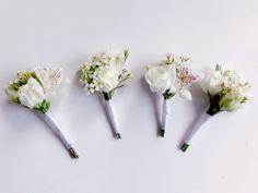 przypinki dla pana młodego   |   kwiaty minwedding