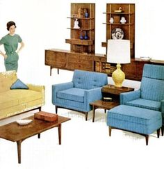 My Pretty Baby Cried She Was a Bird: Kroehler Furniture Co. Couches (1958-1959)