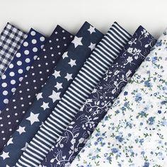 30cm*30cm 7pcs/lot Navy Blue100% Cotton Fabric For DIY Sewing Patchwork Quilting Tissue Kids Bedding Tilda Doll Cloth Textiles *** Vy mozhete poluchit' dopolnitel'nuyu informatsiyu po ssylke izobrazheniya.
