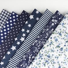30cm*30cm 7pcs/lot Navy Blue100% Cotton Fabric For DIY Sewing Patchwork Quilting Tissue Kids Bedding Tilda Doll Cloth Textiles *** Vy mozhete poluchit' dopolnitel'nuyu informatsiyu po ssylke izobrazheniya.