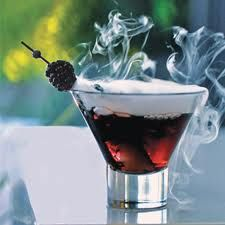 Black Vodka Ghost Martini