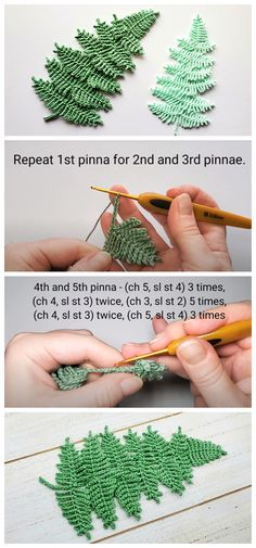 Today we are going to learn How to Crochet fern leaf. It's a simple and quick little leaf and I think it can be a super chic addition to any flower-y project you are in to. Crochet leaf patterns can be used for so many different projects. Stitched together, they can make great bunting for decorating a party, classroom, or home decor. As motifs, they can be attached to hats, scarves, bags, and other accessories. Today I am going to share with you this Written pattern and video tutorial. Enjoy…