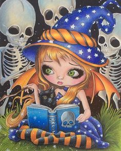 Finally finished my little witch Elfen Fantasy, Fantasy Art, Amy Brown, Tattoo Hada, Colouring Pages, Coloring Books, Gothic Fairy, Witch Art, Polychromos