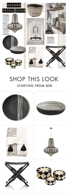 """Modern Tribal Decor"" by barngirl ❤ liked on Polyvore featuring interior, interiors, interior design, home, home decor, interior decorating, Sarah Cihat, GioBagnara, Dot & Bo and modern"