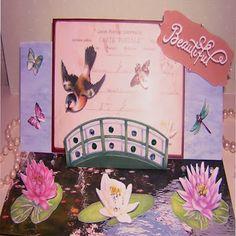 MJM Design Studios Lilies & Light Digikit Easel Card. Easel Cards, Design Studios, Lilies, Over The Years, Crafting, Create, How To Make, Irises, Studio Spaces