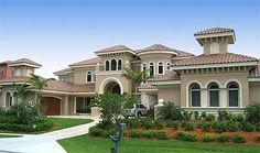 Plan W66023WE: Luxury, Florida, Mediterranean, Photo Gallery, Premium Collection, Corner Lot House Plans & Home Designs