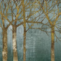 Golden Day Turquoise - Wall Mural