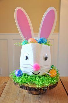 Bunny Milk Jug Basket