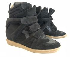 0829c712d60 ISABEL MARANT Beckett Black Leather & Suede Sneakers