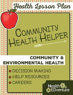 This Health EDventure lesson provides students with an overview of community health helpers and resources in their community. Students will identify which health helper or resource to access in given situations.Find over 330 lessons and activities at the Health EDventurestore.