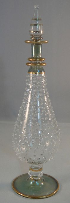 Egyptian Perfume Bottle  Mouth / Hand Blown  by IGCcreations.......