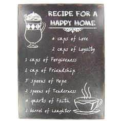 Recipe of a Happy Home Wall Plaque | Shop Hobby Lobby