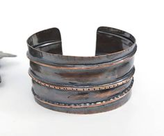 Your place to buy and sell all things handmade Rustic Jewelry, Handmade Jewelry, Rustic Cuff, Copper Cuff, Artisan Jewelry, Metal Working, Cuff Bracelets, Jewelry Design, Modern