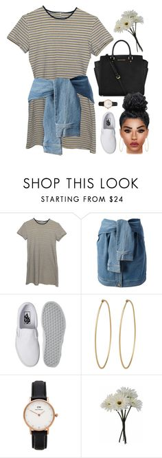 """""""rooftops"""" by demirese ❤ liked on Polyvore featuring DKNY, Michael Kors, Vans, Social Anarchy, Daniel Wellington and Gerber"""