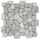 Mosaic Pebble Tile - gray tile 12 x