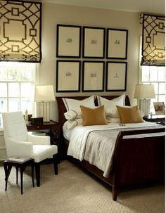 love this transitional bedroom