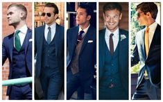 The Complete Guide to Men's Shirt, Tie and Suit Combinations - The Trend Spotter Navy Suit Brown Shoes, Navy Suit Tie, Brown Suits For Men, Grey Suit Men, Navy Blue Suit, Suit And Tie, Mens Suits, Navy Suits, Mens Shirt And Tie