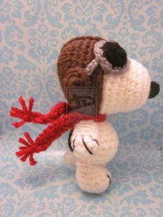 Wee Lil Flying Ace Snoopy Amigurumi Crochet Doll by Spudsstitches.deviantart.com on @deviantART