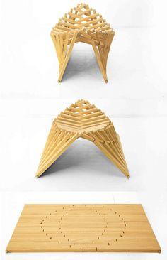 Rising furniture by Robert vanEmricqs  - stool