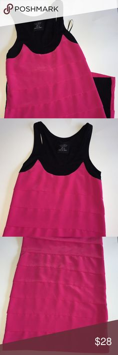 5bf842af28 Beautiful hot pink and black Zara dress Size Small Zara 63% polyester 19%  modal