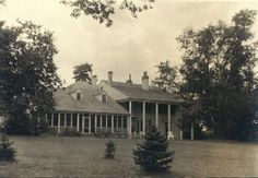 """Charles Chambers Residence """"Taille de Noyer."""" Highway 66 and Old Florissant Road. Original part of house built in 1790. 