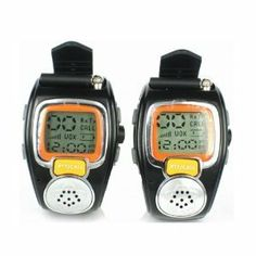 State-of-the-art Fashionable Wristwatch Walkie Talkie Spy Wrist Watch--Auto Channel Scan--LCD display--Auto Squelch(2-pack) by Generic. $43.99. With 6km of range, the wristwatch walkie talkie can offer you the freedom to go anywhere and do anything--from weekend hiking to just hanging out at a mall. This wristwatch walkie talkie is lightweight, state-of-the-art communications devices, providing a new fashionable communication way to your daily life. This package comes w...