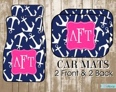 Personalized Car MatsDesign Your Own Custom Car by LollipopInk, $42.50