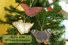DIY Butterfly Ornaments