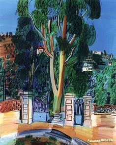A Eucalyptus Artwork by Raoul Dufy Hand-painted and Art Prints on canvas for sale,you can custom the size and frame