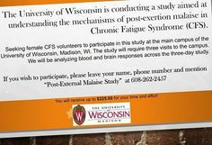 University of Madison, seeks women with for study looking at the effects of exercise. Chronic Fatigue Syndrome, Chronic Illness, Research Studies, Social Media Channels, Wisconsin, University, Study, Exercise, Women