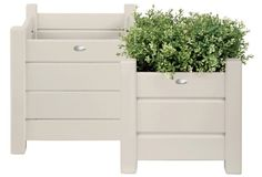Asst. of 2 Outdoor Planters, White