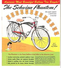 Schwinn Black Phantom catalog page