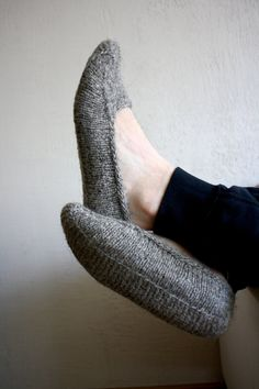 Earthy Natural brown organic hand knit wool socks by RGideas