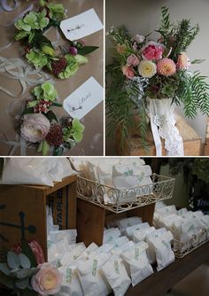 Floral Stylist:Floral Wristlets, Brides bouqet with garden picked blooms and foliage,King protea,pepper tree and lace trails( image Robert Trathen)