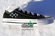 ef364c8153b2 Items similar to Ready To Ship!! Swarovski Kids Size 11 C Converse Chuck  Taylor All Star Sneakers Made with SWAROVSKI® Crystals- New In Box on Etsy