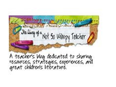 Like The Diary of a Not So Wimpy Teacher's facebook page for great teacher resources, freebies, and much more!!!