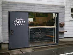 (i love the idea of coffee to go window)...little nap coffee stand . tokyo