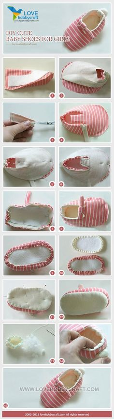 DIY cute baby shoes for girls