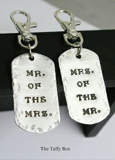 His and Hers Key chains/ luggage tags. $14.50